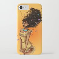 pocahontas iPhone & iPod Cases featuring Pocahontas by C. Cassandra