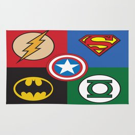 Superhero Logos No. 2 Rug