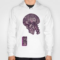 gothic Hoodies featuring Gothic Skull by AKIKO