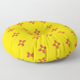 flag of new mexico 3 Floor Pillow