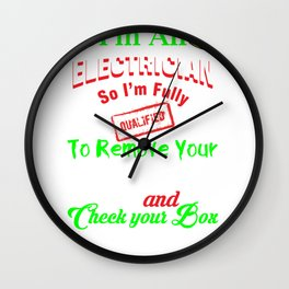 Funny Electrician Design for Linesman  graphic Wall Clock