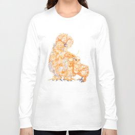 Silkie Chickens - Daisy Long Sleeve T-shirt