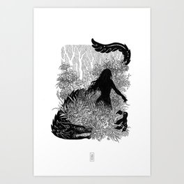 In the Deep Deep Woods Art Print