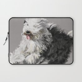 Old English Sheepdog On the Move Laptop Sleeve