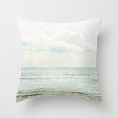 Silvery Seas Throw Pillow