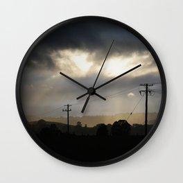 Morning Rays Wall Clock
