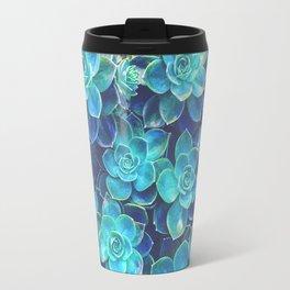 Green Succulents Travel Mug