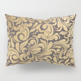 Gold foil swirls damask #11 Pillow Sham