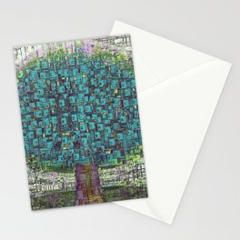 Tree Town - Magical Retro Futuristic Landscape Stationery Cards