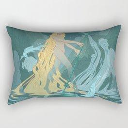 Nymph of the river Rectangular Pillow