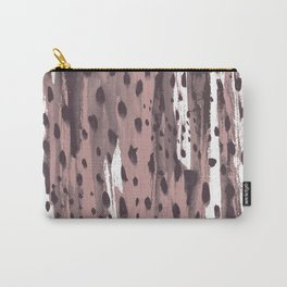 Rose and Dark Violet Carry-All Pouch