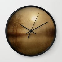 aelwen Wall Clocks featuring From the morning by Viviana Gonzalez