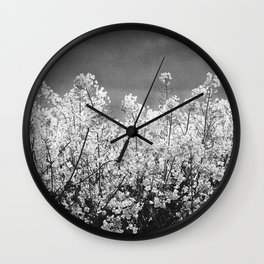 White oil: yellow rape flowers Wall Clock