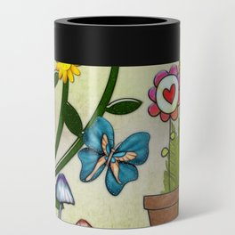 A Very Hippy Day Whimsical Fantasy Can Cooler