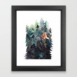 Bigfoot Forest Framed Art Print