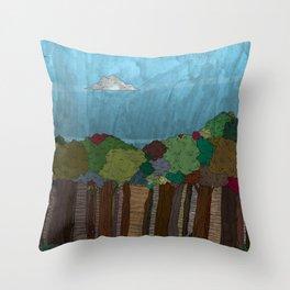 BigFoot Forest (Colour) Throw Pillow