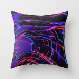 EDM Music Flow Throw Pillow