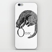 otter iPhone & iPod Skins featuring Otter by zuzia turek