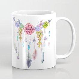 Spirit Gazer With Crystals And Succulents Coffee Mug