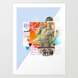 The yé-yé girl Art Print