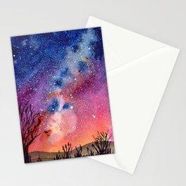 Galaxy Tree Stationery Cards