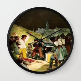 Third Of May Painting Wall Clock