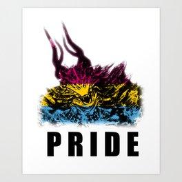 Pansexual Pride Demon Art Print