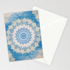 GOLD AND BLUE BOHOCHIC MANDALA Stationery Cards