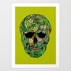 Skull Nature Art Print
