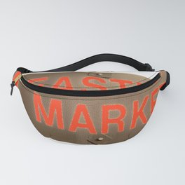 Capitol Hill, DC - Eastern market sign - neighborhood market - local art - DC photo Fanny Pack
