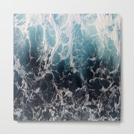 Blue Wave Surf Metal Print