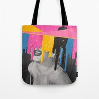 celebrity Tote Bags featuring Celebrity Syrup by Eugenia Loli