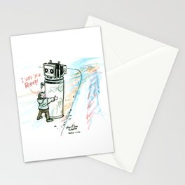 """I Wuv you Robot"" Stationery Cards"