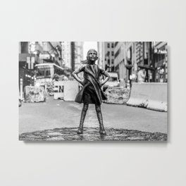 Fearless Girl NYC Metal Print