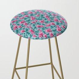 Pink & Teal Lovely Floral Bar Stool
