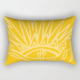 Saguaro Sunburst Gold Rectangular Pillow