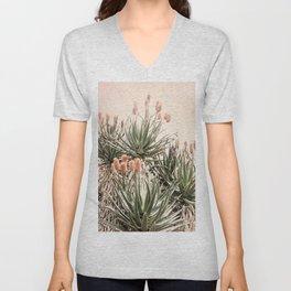 Cactus Blooms 2 Unisex V-Neck