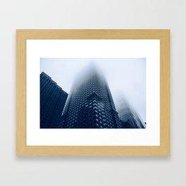 'Foggy Leo' Framed Art Print