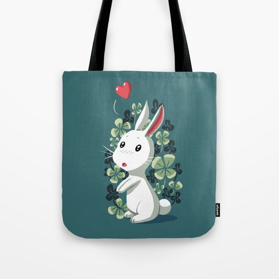 Clover Bunny Tote Bag