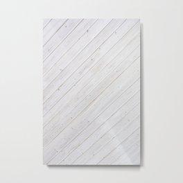 Wooden Boards Metal Print
