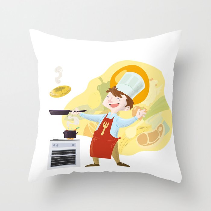 I'll be a chef Throw Pillow