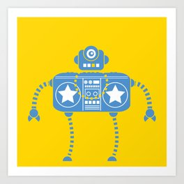 Rockbot Art Print