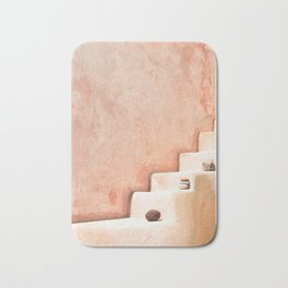 Stairway in Santorini Bath Mat