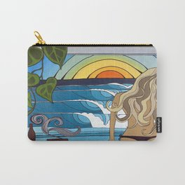 Woman in the Window Surf Art by Lauren Tannehill Art Carry-All Pouch