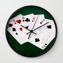 Poker Hand High Card Ten Eight Six Three Two Wall Clock