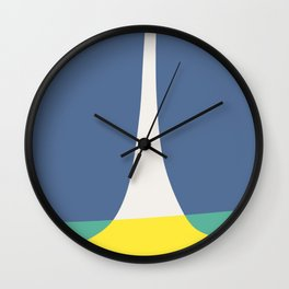 Blue and yellow baby green Wall Clock