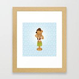 Tiki Bobblehead Girl Framed Art Print