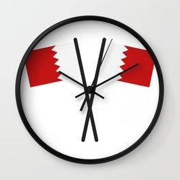 bahrain flag Wall Clock
