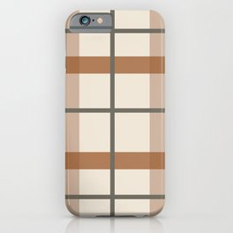 Kindred Plaid Natural iPhone Case