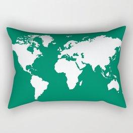 Emerald Elegant World Rectangular Pillow